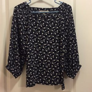 Loft puff sleeved blouse xs
